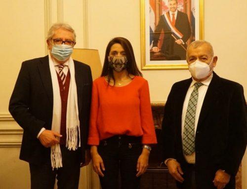 Senadora Agustina Propato visitó la Embajada de Paraguay y se reunió con Aranda Cuevas